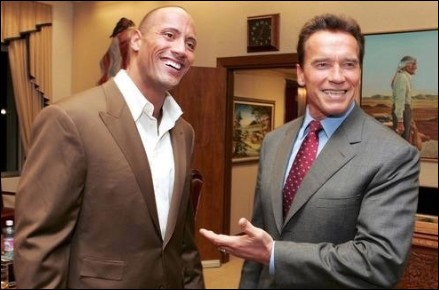 dwayne-johnson-and-arnold-schwarzenegger